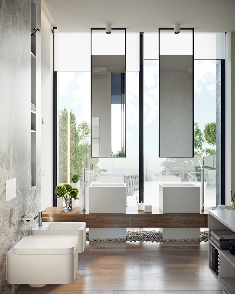 Arredamento per bagno minimal chic 3