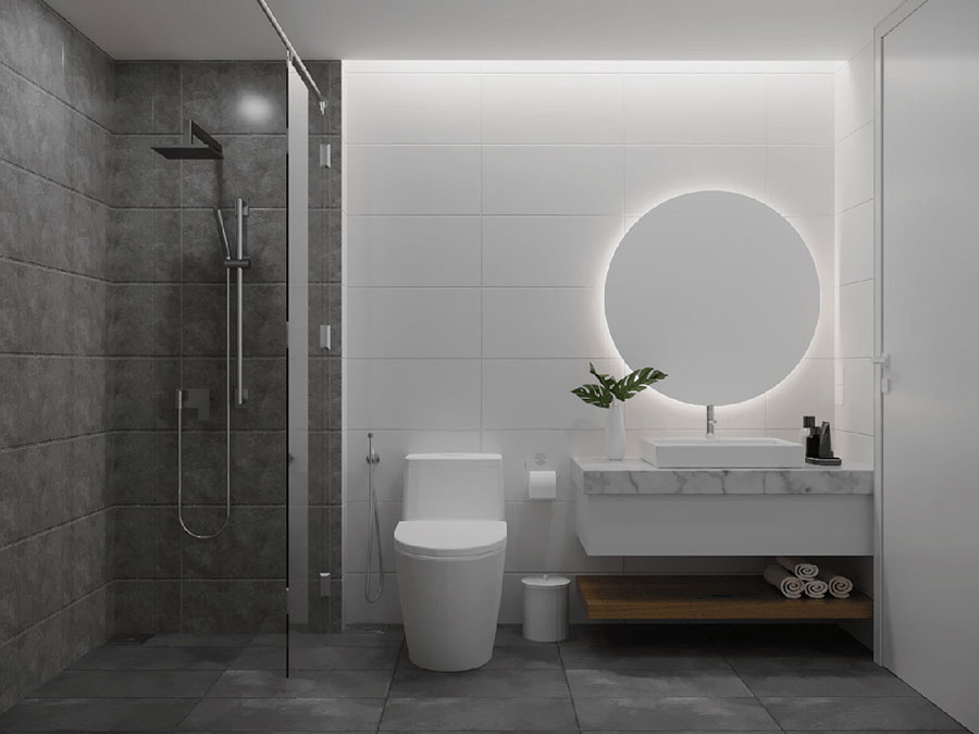 Arredo bagno minimal dal design moderno n.02