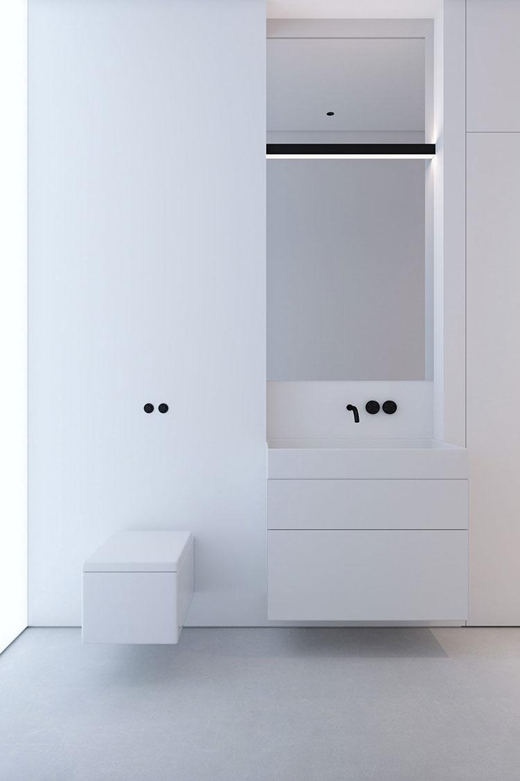 Arredo bagno minimal dal design moderno n.04