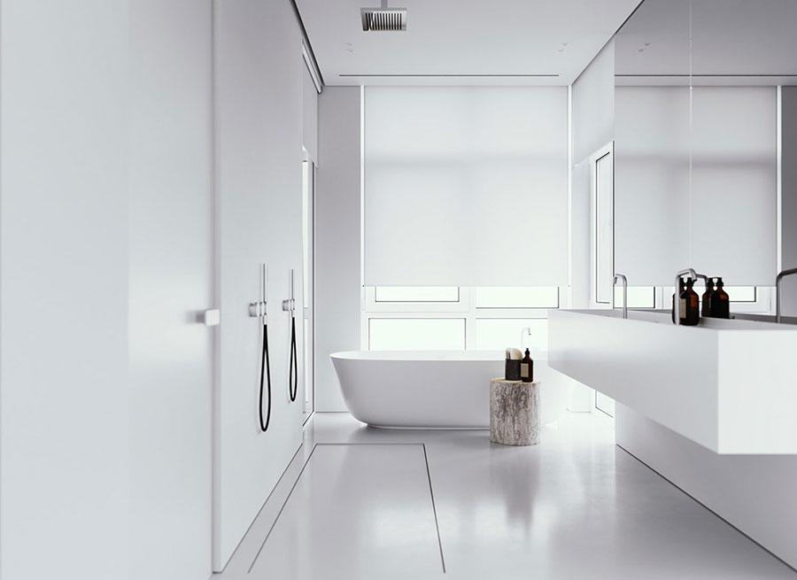 Arredo bagno minimal dal design moderno n.11