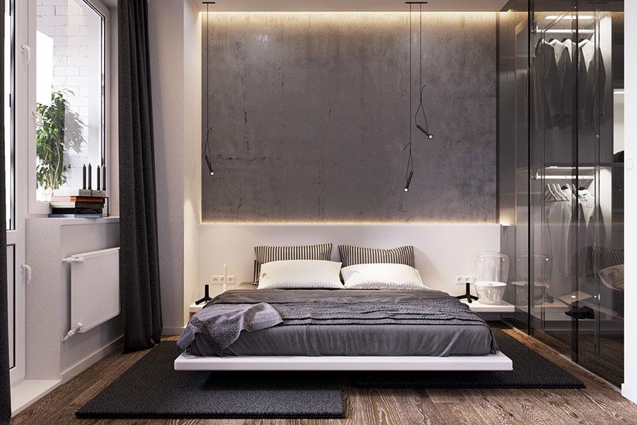 Idee per arredare una camera da letto grigia n.02