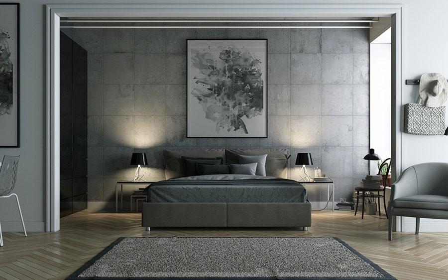 Idee per arredare una camera da letto grigia n.04