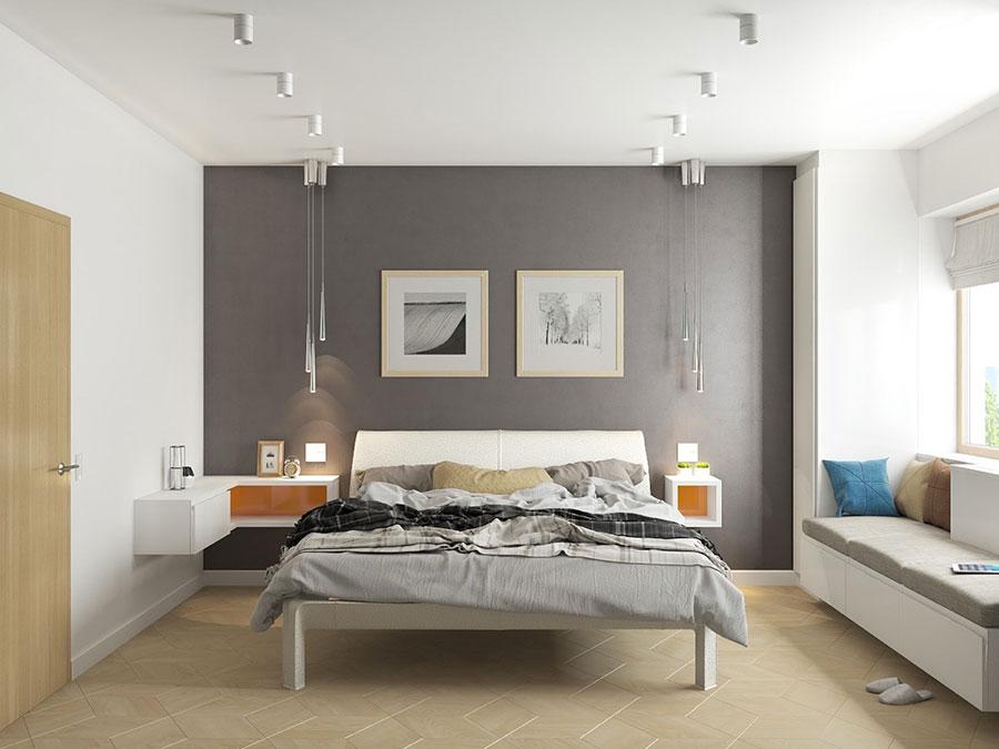 Idee per arredare una camera da letto grigia n.14