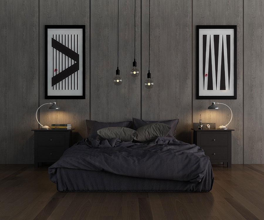 Idee per arredare una camera da letto grigia n.17