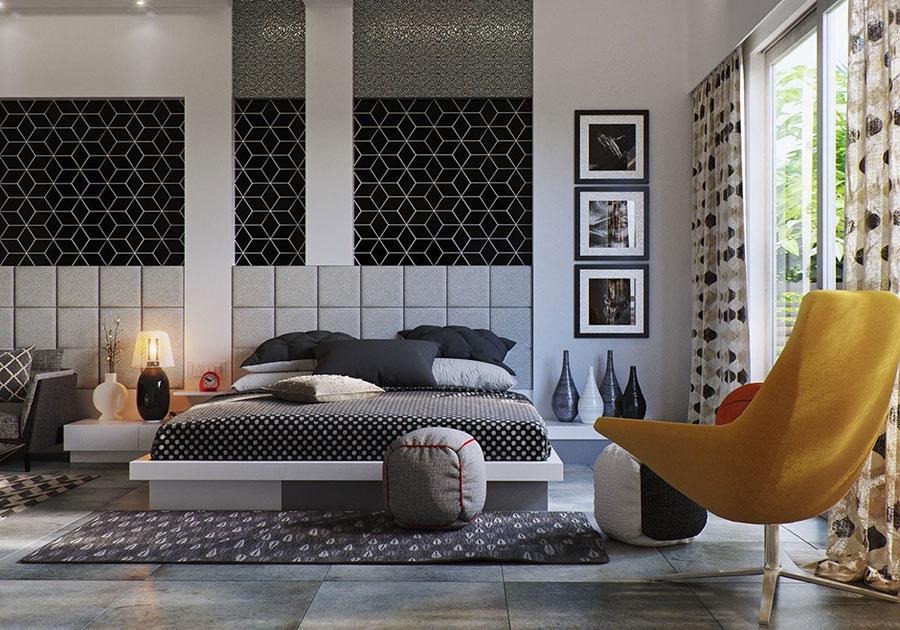 Idee per arredare una camera da letto grigia n.20