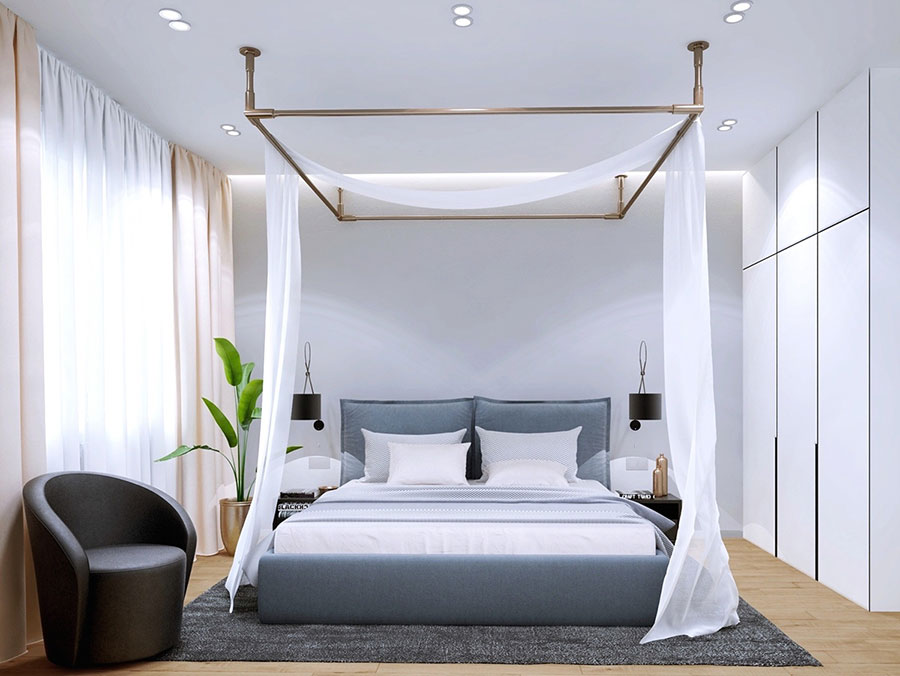 Arredamento per camera da letto minimal chic 4