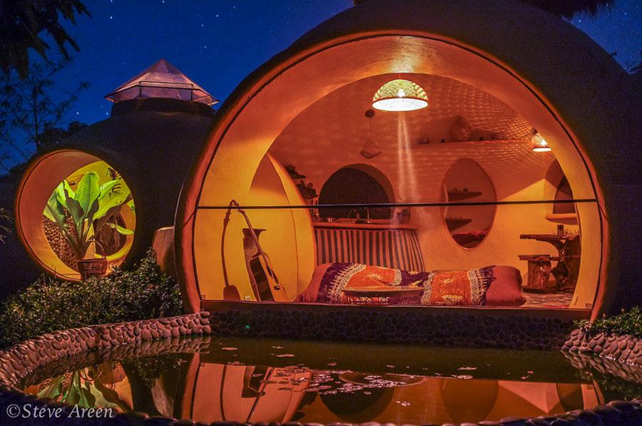 Progetto di casa da sogno a cupola n.16