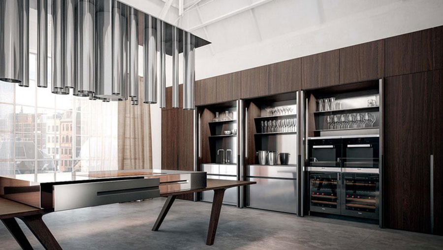 Modello di cucina a scomparsa Elmar n.1