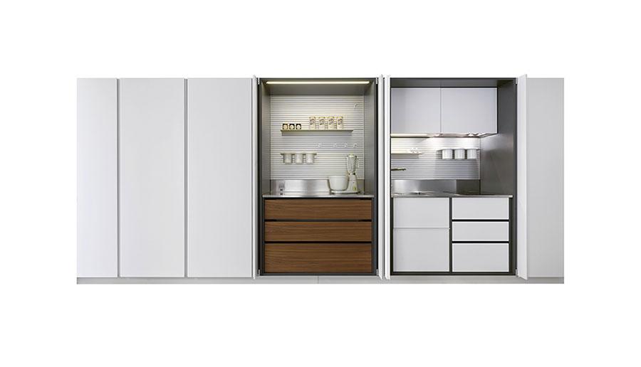 Modello di cucina a scomparsa Schiffini n.2