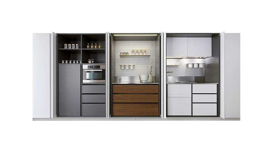 Modello di cucina a scomparsa Schiffini n.3