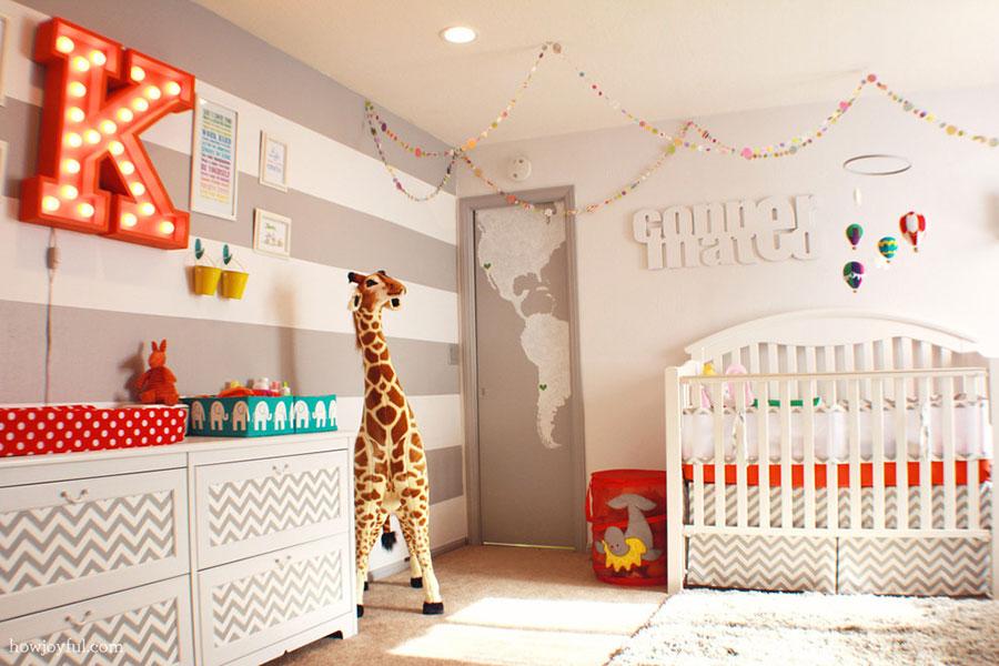 Idee per decorare la cameretta dei neonati n.01