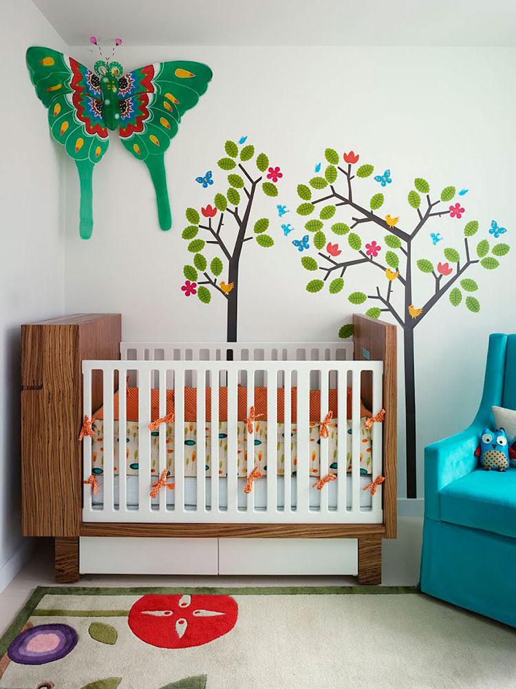 Idee per decorare la cameretta dei neonati n.02