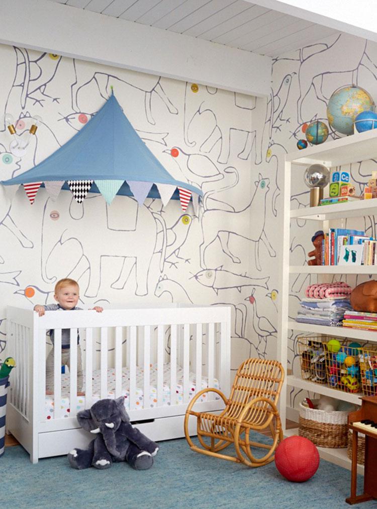 Idee per decorare la cameretta dei neonati n.16