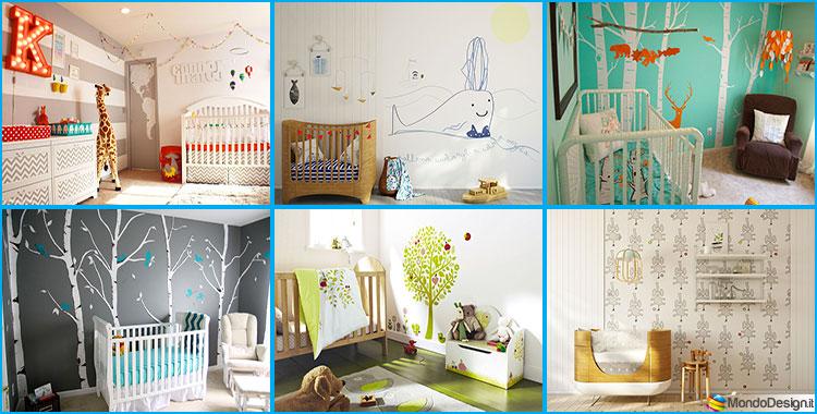30 idee per decorare la cameretta dei neonati con allegria for Idee pareti cameretta neonato