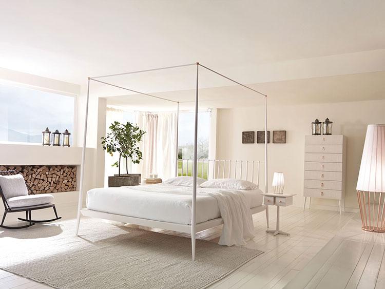 Modello di letto a baldacchino dal design moderno n.01