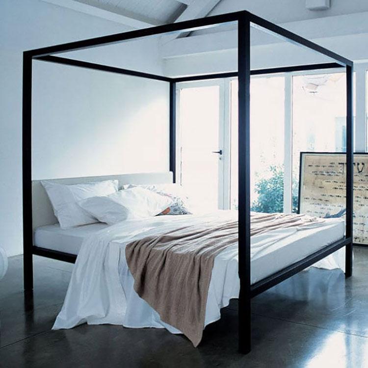 Modello di letto a baldacchino dal design moderno n.03