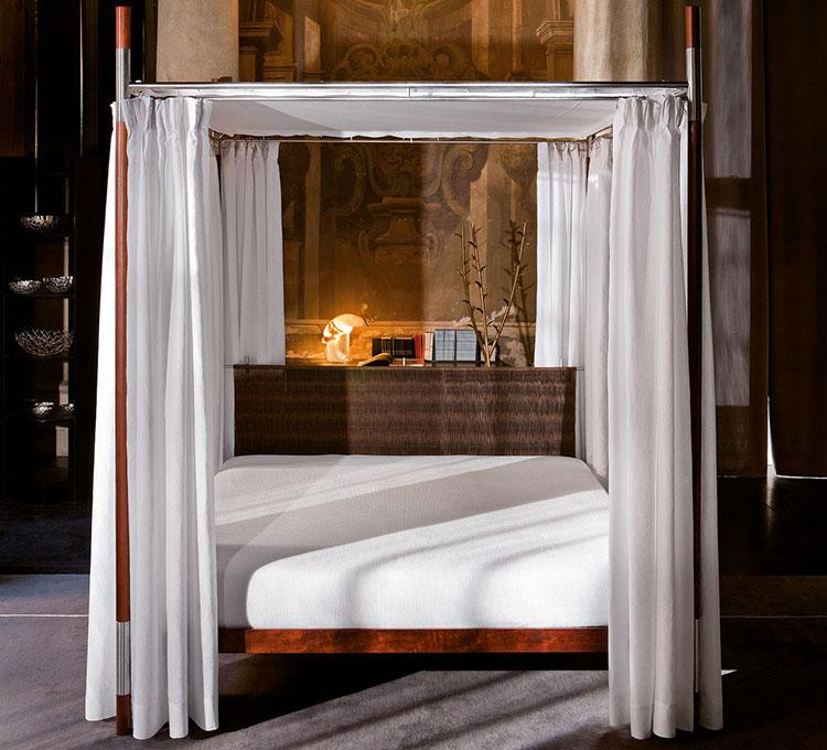 Modello di letto a baldacchino dal design moderno n.07