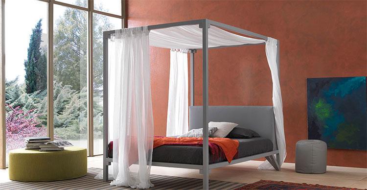 Modello di letto a baldacchino dal design moderno n.08