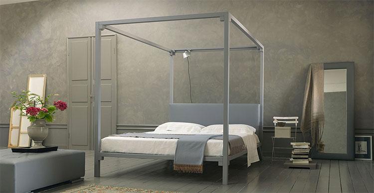 Modello di letto a baldacchino dal design moderno n.09