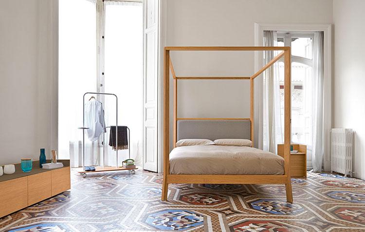 Modello di letto a baldacchino dal design moderno n.10