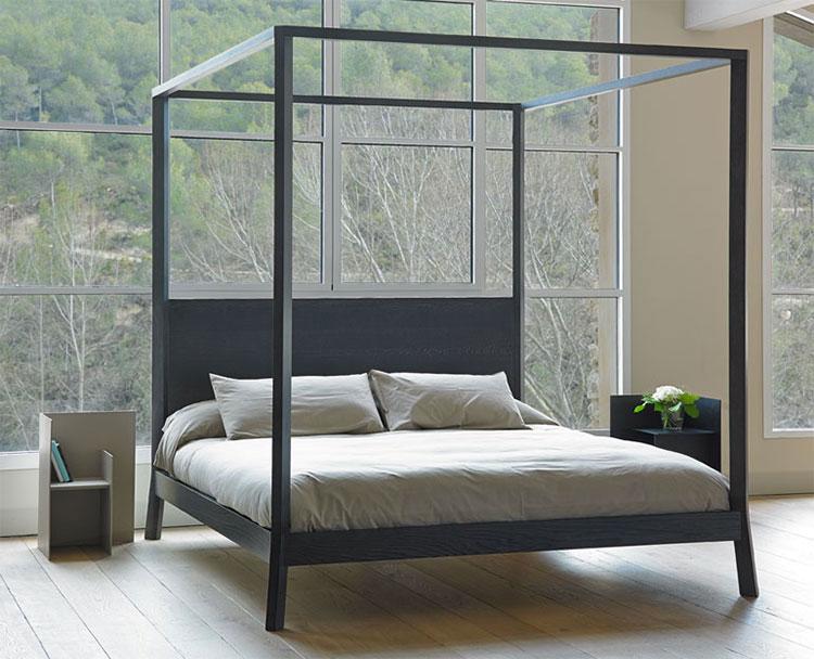 Modello di letto a baldacchino dal design moderno n.11