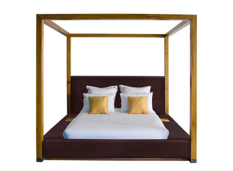 Modello di letto a baldacchino dal design moderno n.14