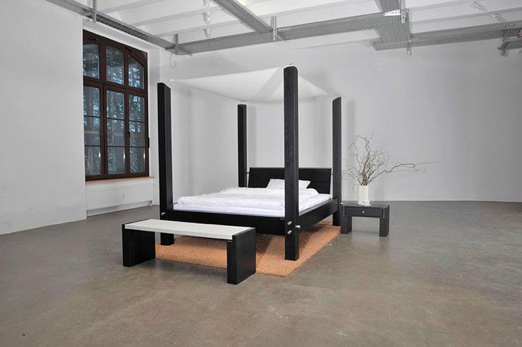 Modello di letto a baldacchino dal design moderno n.17