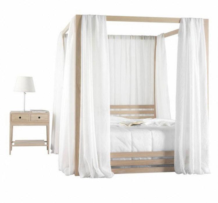 Modello di letto a baldacchino dal design moderno n.18