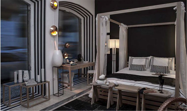 Modello di letto a baldacchino dal design moderno n.19