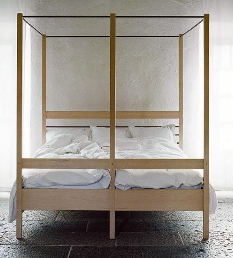 Modello di letto a baldacchino dal design moderno n.20