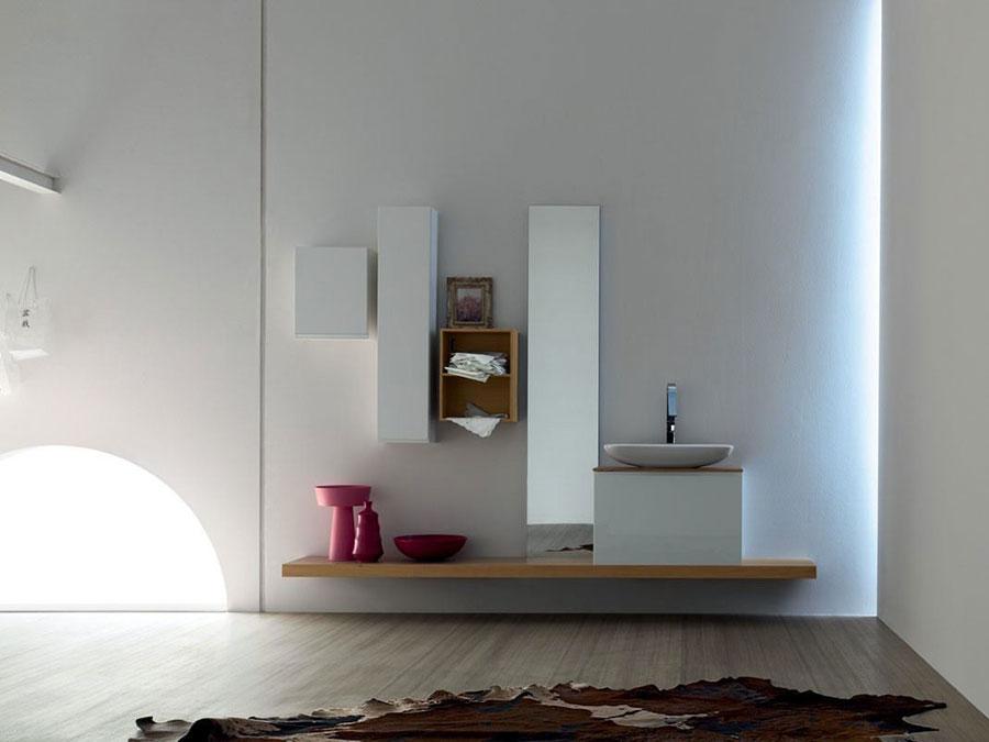 Modello di mobile bagno minimal n.02