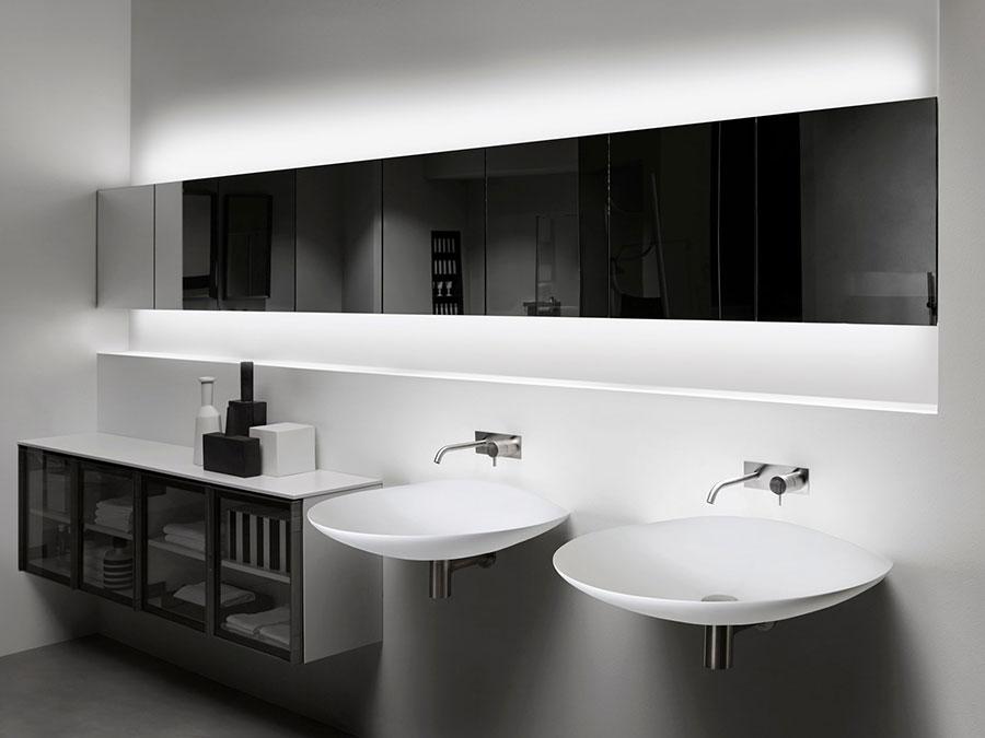 Modello di mobile bagno minimal n.08