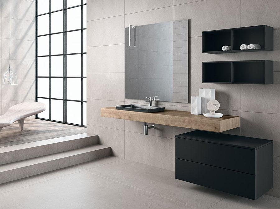 Modello di mobile bagno minimal n.09