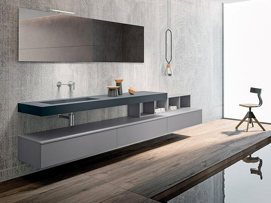 Modello di mobile bagno minimal n.10