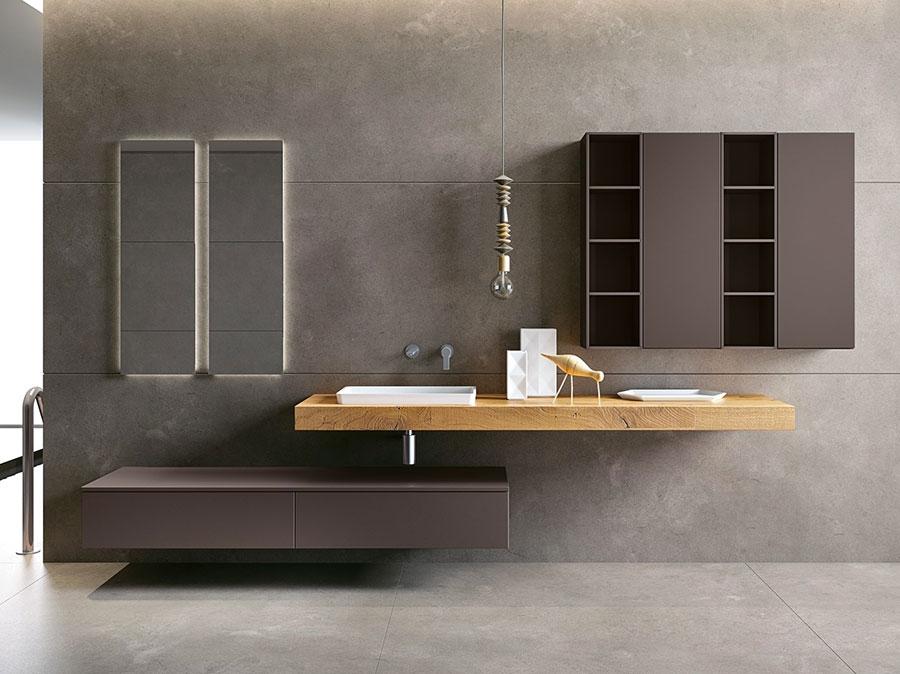 Modello di mobile bagno minimal n.11