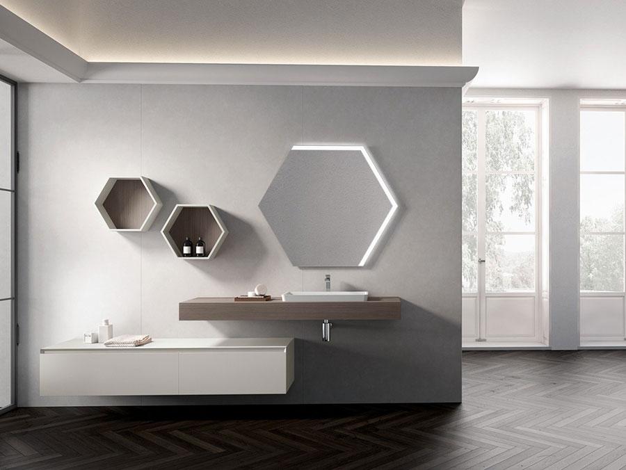 Modello di mobile bagno minimal n.13