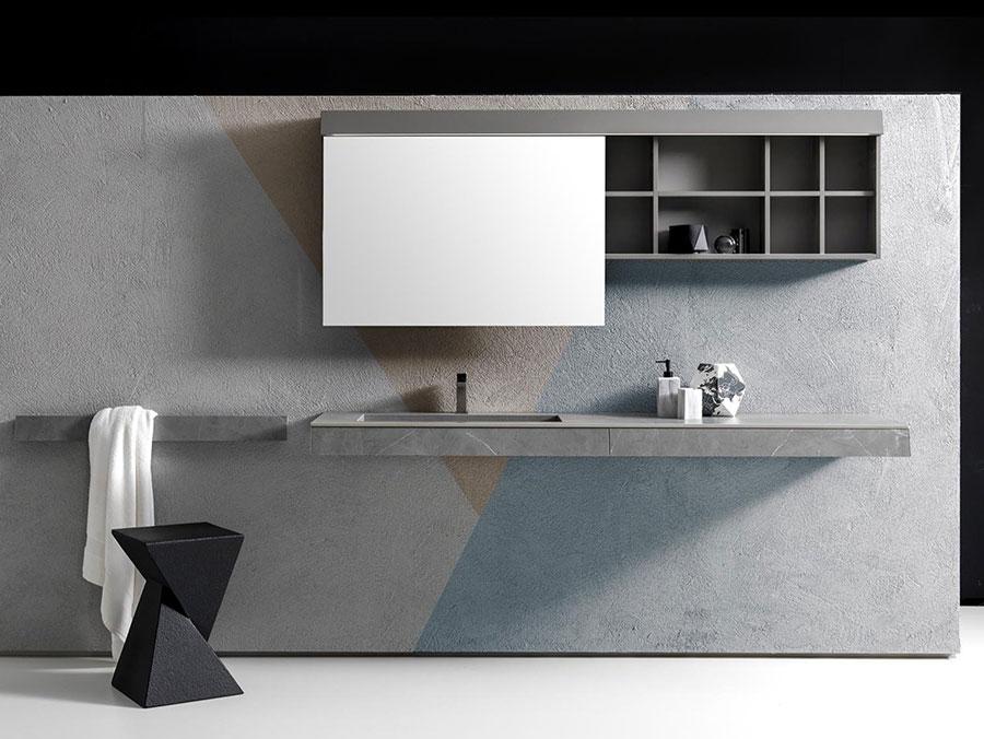 Modello di mobile bagno minimal n.14