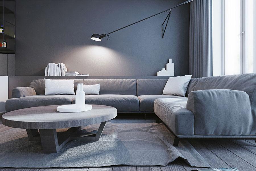 Idee per le mobili del soggiorno grigio n.01