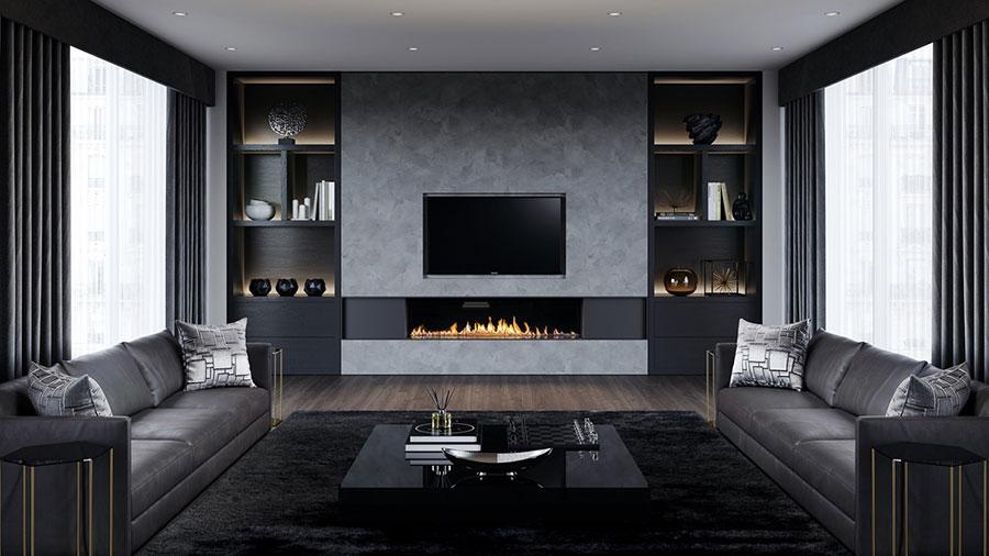 Idee per le mobili del soggiorno grigio n.02