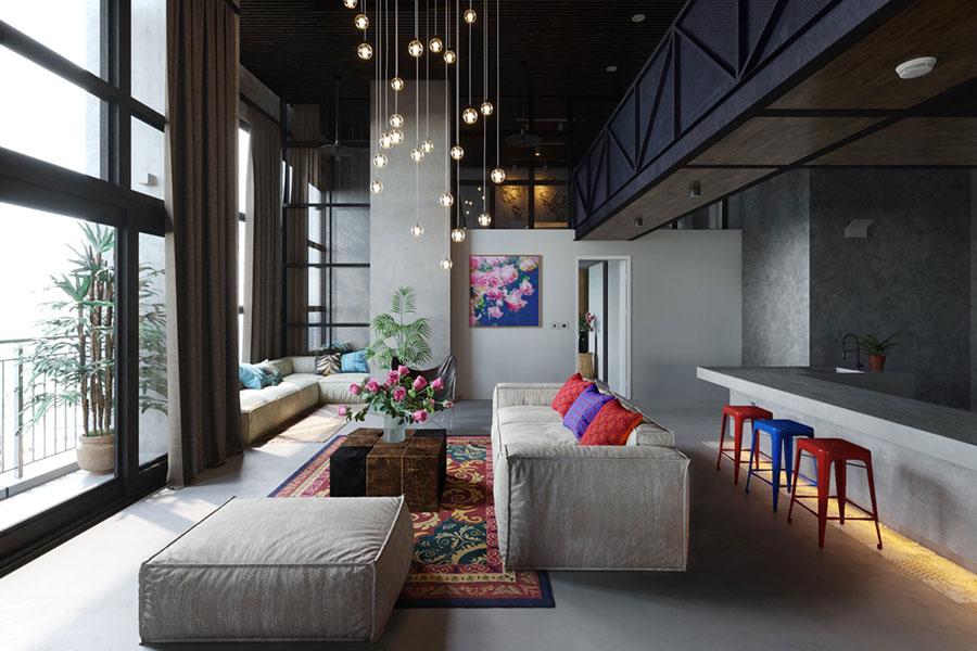 Idee per le mobili del soggiorno grigio n.05