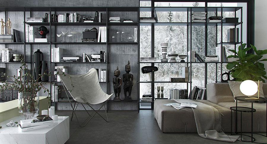 Idee per le mobili del soggiorno grigio n.06