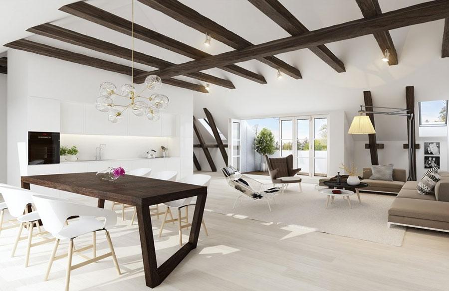 Idee per arredare un open space cucina soggiorno in stile moderno n.08