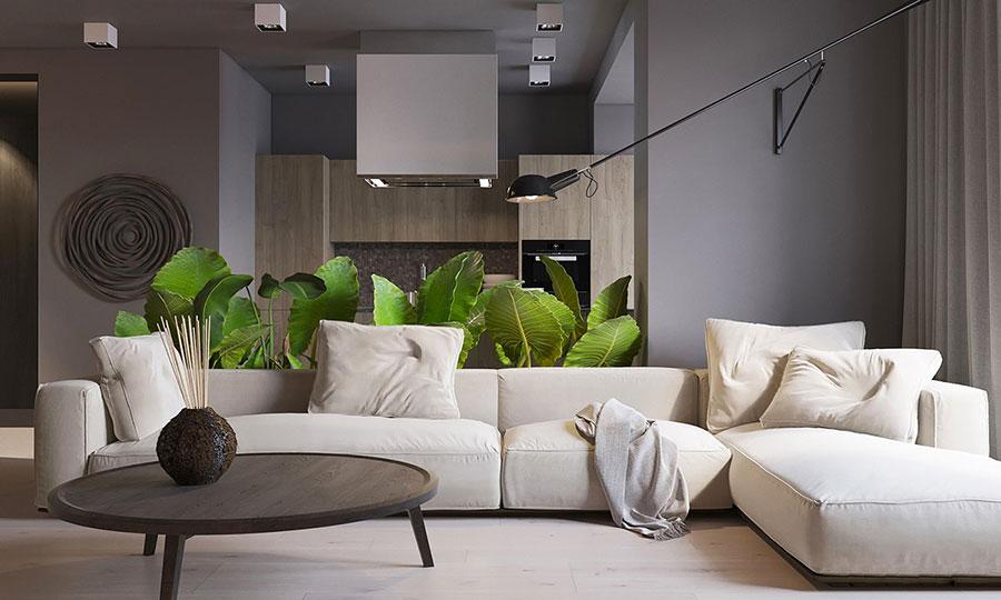 Idee per le pareti del soggiorno grigio n.01