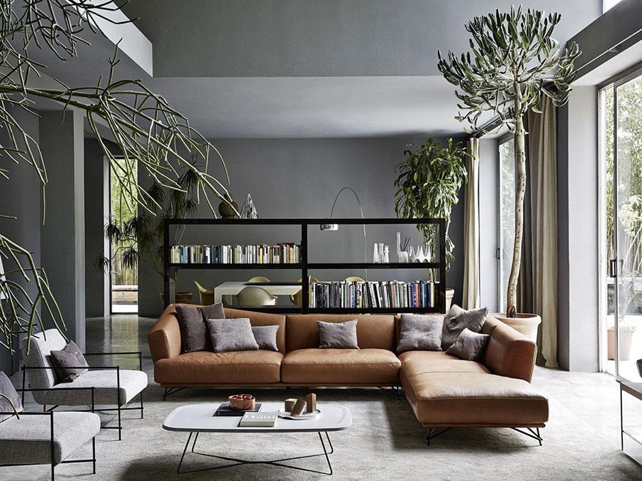 Idee per le pareti del soggiorno grigio n.02