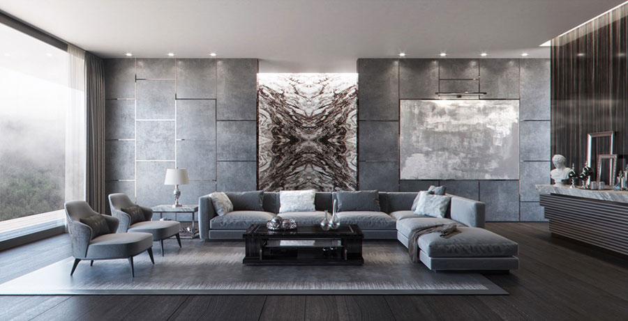 Idee per le pareti del soggiorno grigio n.03
