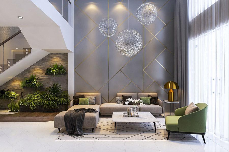 Idee per le pareti del soggiorno grigio n.04