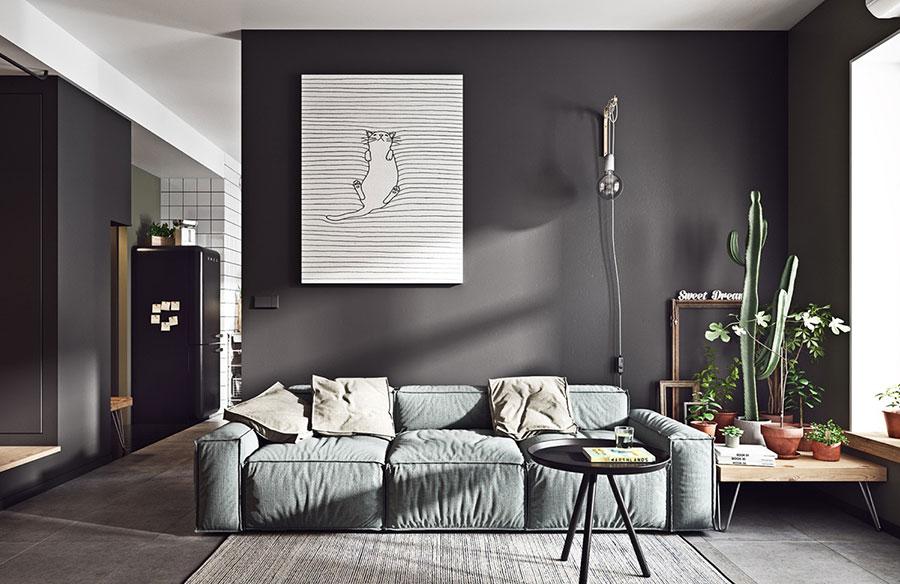 Idee per le pareti del soggiorno grigio n.06