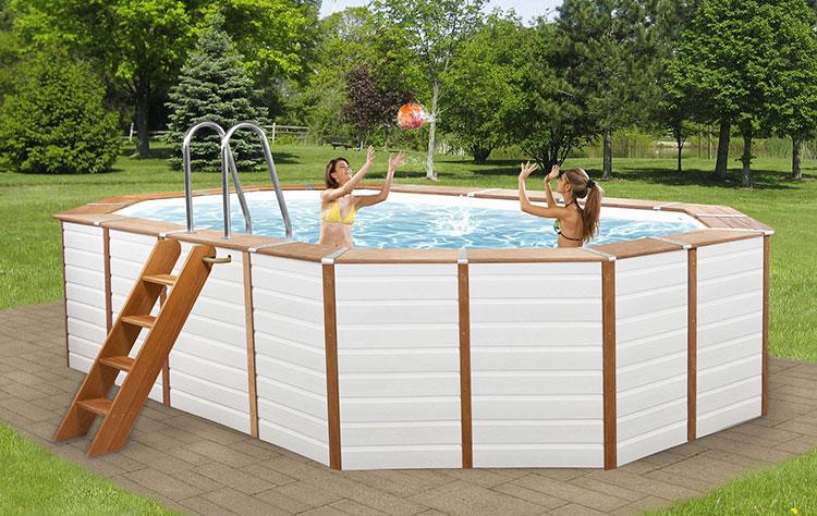 Modello di piscina fuori terra in legno n.02
