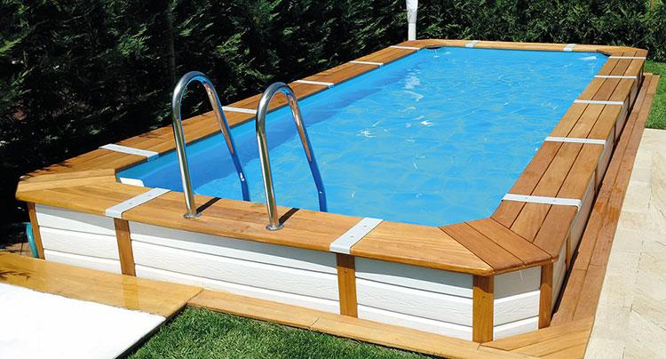 Modello di piscina fuori terra in legno n.04