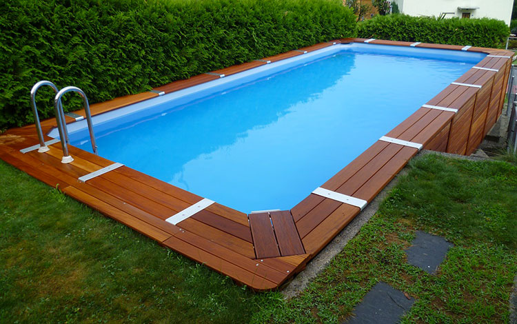 Modello di piscina fuori terra in legno n.05